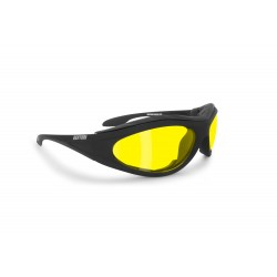 Antifog Goggles for Motorcycle and Shooting AF125A - yellow lenses - Bertoni Italy