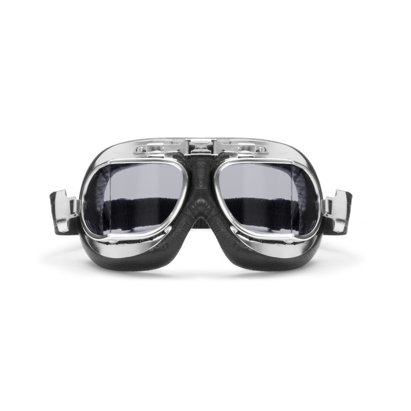 306183f038ba Vintage Motorcycle Goggles with Antifog and Anticrash Squared Lenses  AF193CR by Bertoni Italy