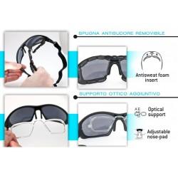 Photochromic Sunglasses with Optical Insert F366A - optical insert for prescription lenses - Bertoni Italy