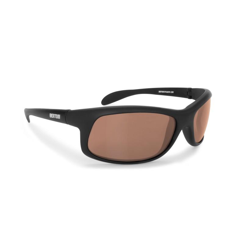 Photochromic Polarized Sunglasses for Moto, Fishing, Running, Watersports and Ski P545FT - Bertoni Italy