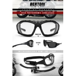 Photochromen Sportbrillen mit Optik Adapter F366A by Bertoni Italy