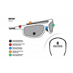 Occhiali Fotocromatici F180 - Ciclismo Moto Sci Golf Running Volo - scheda tecnica - Bertoni Italy
