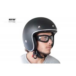 Maschera fotocromatica per Moto Harley & Chopper F120A - indossati con casco - Bertoni Italy