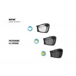 Maschera fotocromatica per Moto Harley & Chopper F120A - effetto lente fotocromatica - Bertoni Italy
