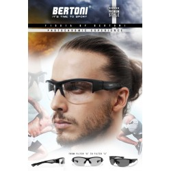 Bertoni Photochromic Sunglasses for Men Women Cycling Running Driving Fishing Golf Baseball Glasses –  F1001A by Bertoni Italy