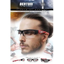 Bertoni Photochromic Sunglasses for Men Women Cycling Running Driving Fishing Golf Baseball Glasses –  F1001B by Bertoni Italy
