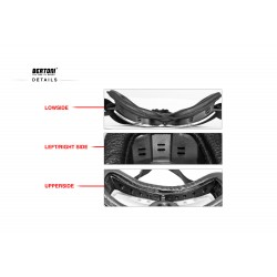 Motorcycle Goggles AF188 -  details - Bertoni Italy