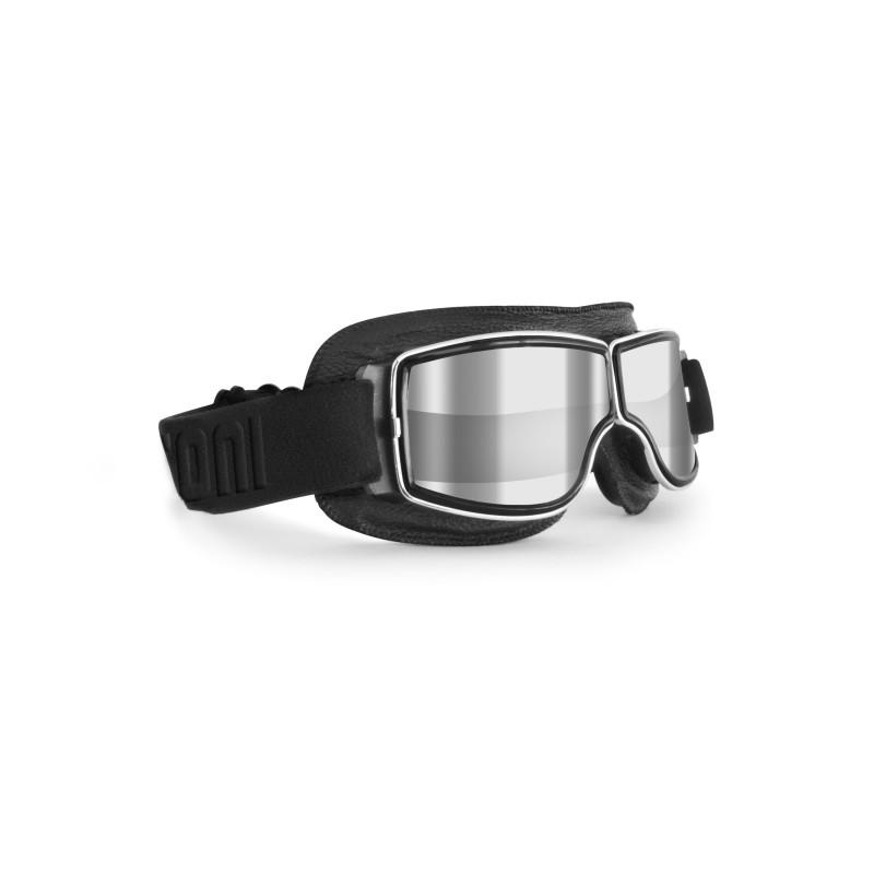 Motorcycle Goggles AF188A silver mirror - Bertoni Italy