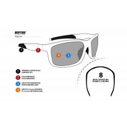 Photochromic Sunglasses ALIEN F -  technical sheet - Bertoni Italy