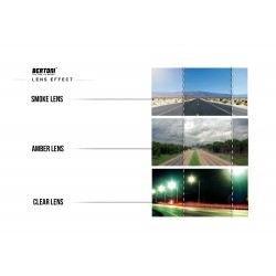 Interchangeable Lenses Goggles D200 - antiglare lens effect - Bertoni Italy