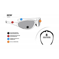 Interchangeable Lenses Goggles D200 - technical sheet - Bertoni Italy