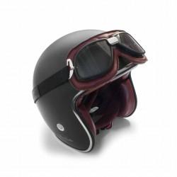 Occhiali Aviatore pelle Rossa AF196R - fitting casco - Bertoni Italy