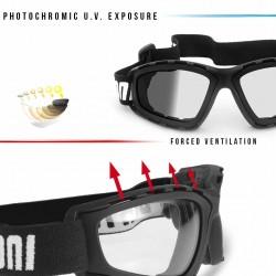 Maschera fotocromatica per Moto Harley & Chopper F120A - dettagli - Bertoni Italy