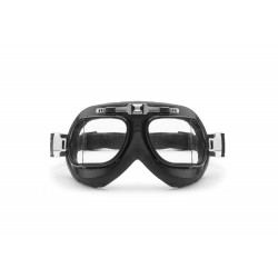 Motocycle Leather Goggles AF193L - front view - Bertoni  Italy