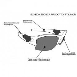 Interchangeable Multilens Sunglasses for Kids FTJ - technical sheet - Bertoni Italy