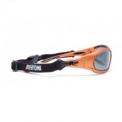 Occhiali Polarizzati P114B per Moto, Sci, Pesca e Sport Acquatici - visione laterale - Bertoni Italy