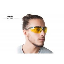 Multilenses Antifog Sunglasses AF159A - Shooting Range, Motorcycle and Ski - fitting - Bertoni Italy