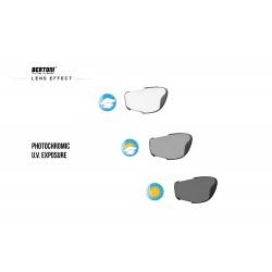 Occhiali Fotocromatici F1000 per Moto, Sci, Ciclismo MTB, Volo, Running e Golf - effetto lente fotocromtica - Bertoni Italy