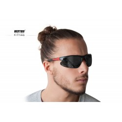 Photochromic Polarized Sunglasses P301CFT - fitting - Bertoni Italy