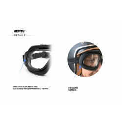 Maschera Moto AF190 - dettagli -Bertoni Italy