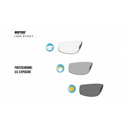 Photochromic Sunglasses F180 - Motorcycle Ski Cycling Golf Running Skydiving - photochromic lens effect - Bertoni taly
