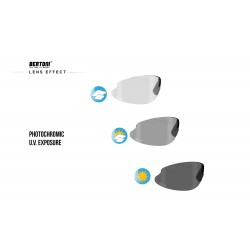 Photochromic Sunglasses F301 - Cycling Golf Ski Running MTB - photochromic lens effect - Bertoni Italy