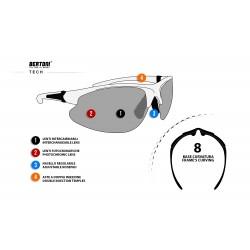Occhiali Fotocromatici F301 - Ciclismo MTB Golf Running Sci - scheda tecnica - Bertoni Italy